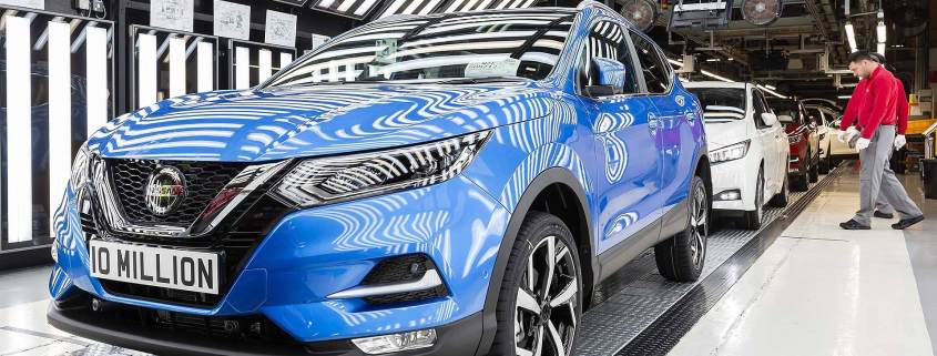 Nissan Qashqai rolling off the Sunderland production line