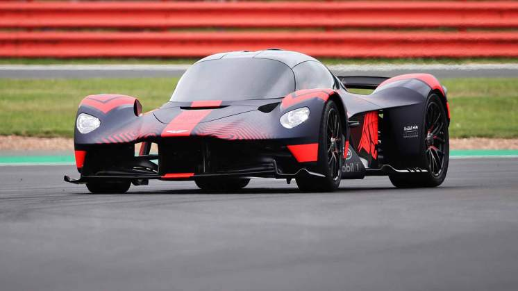 Aston Martin Valkyrie on track at Silverstone