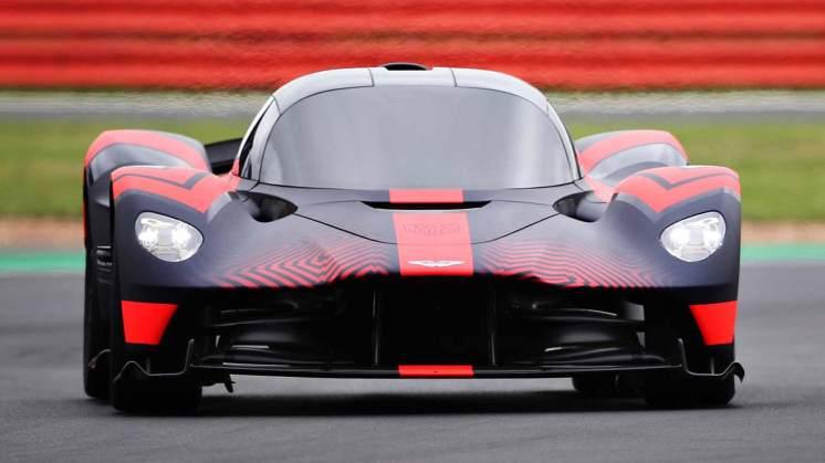 Aston Martin Valkyrie on track at Silverstone