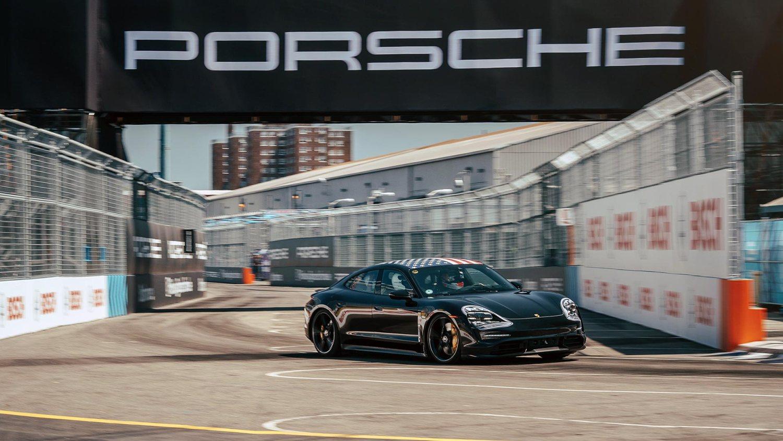 Porsche Taycan debuts in New York
