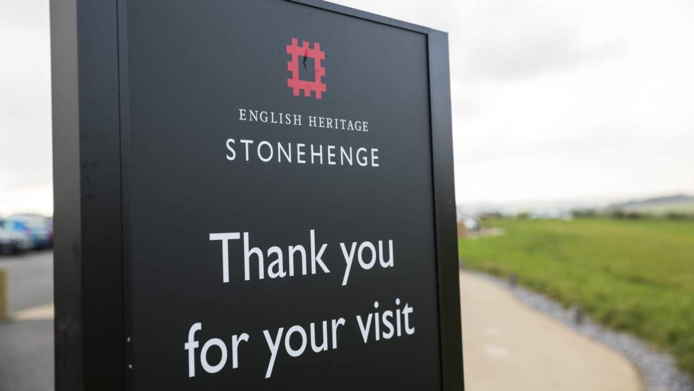 Stonhenge visitor sign