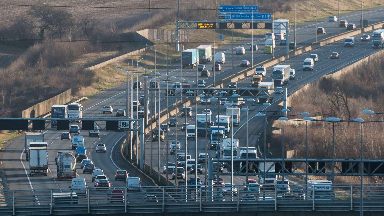 M1 motorway Redbourn