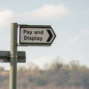 Pay and display parking sign