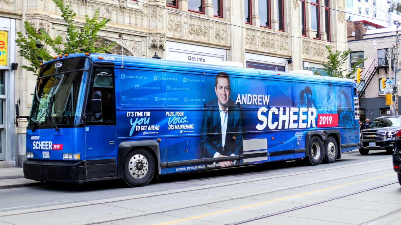 election 2019 campaign bus