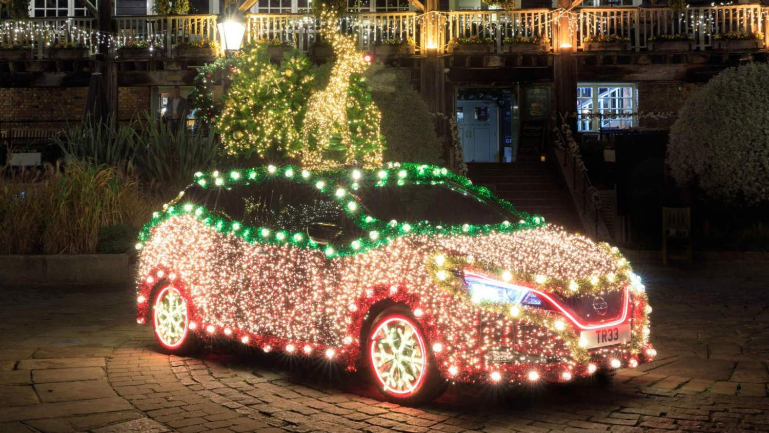 Nissan Leaf Christmas tree