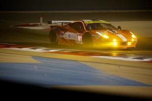Rigon in azione con la Ferrari 458