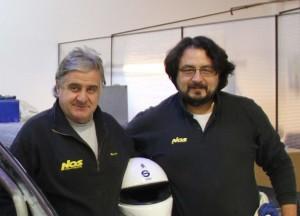 Da sx il team manager Massimo Poli e il pilota Gianluca Dragani_2