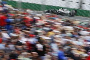Kevin Magnussen on track.