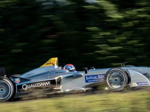 The fully-electric Formula E car