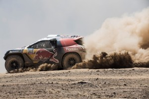 Cyril Despres races during stage 5 of Rally Dakar 2015 from Copiapo to Antafagosa on January 8th, 2015