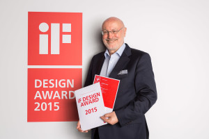 iF Design Award certificate handover to Gert Hildebrand