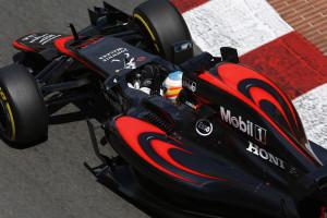 Fernando Alonso on track.