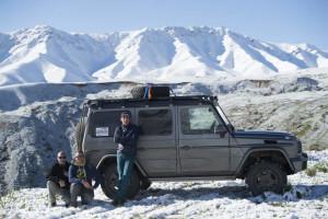 Mike Horn mit der G-Klasse auf dem Weg zum K2 im Mai / Juni 2015