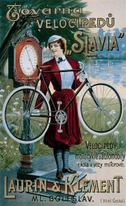 media-Manifesto pubblicitario d'epoca delle biciclette Slavia prodotte da Laurin & Klement (1899)