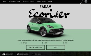 """Create your very own ADAM: The lifestyle bloggers will report on their experiences with the Opel ADAM on the campaign microsite www.adamyourself.com in the coming months – participation welcome! This will culminate in the fall of 2016 with the limited special model series """"ADAM YOURSELF""""."""