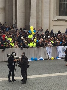 I lavoratori ACI in piazza San Pietro