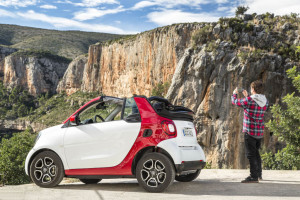 smart fortwo cabrio Press Test Drive Januar 2016 Valencia Spain