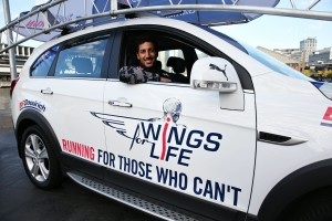 Daniel Ricciardo per Wings for Life World Run 2016_Catcher Car