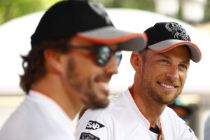 Fernando Alonso and Jenson Button.