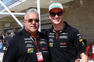 mallya hulk Motor Racing - Formula One World Championship - United States Grand Prix - Race Day - Austin, USA