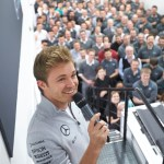 Nico Rosberg Celebrates 2016 World Drivers' Championship Title at Brackley
