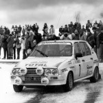Visa Rally Jean Cloude Andruet al Rally di Monte Carlo 1985