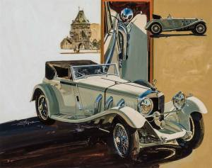 brafa17-berko-fine-paintings-t-hoyne-1929-mercedes-benz-ssk