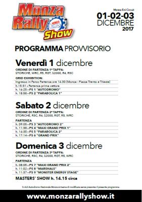 programma monza rally show