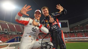 vettel schumacher race of champions