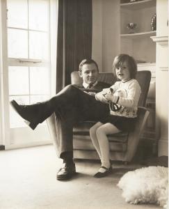 Bruce McLaren and his daughter at the Muriwai House_photo credits Araldo do Crollalanza Ltd Family