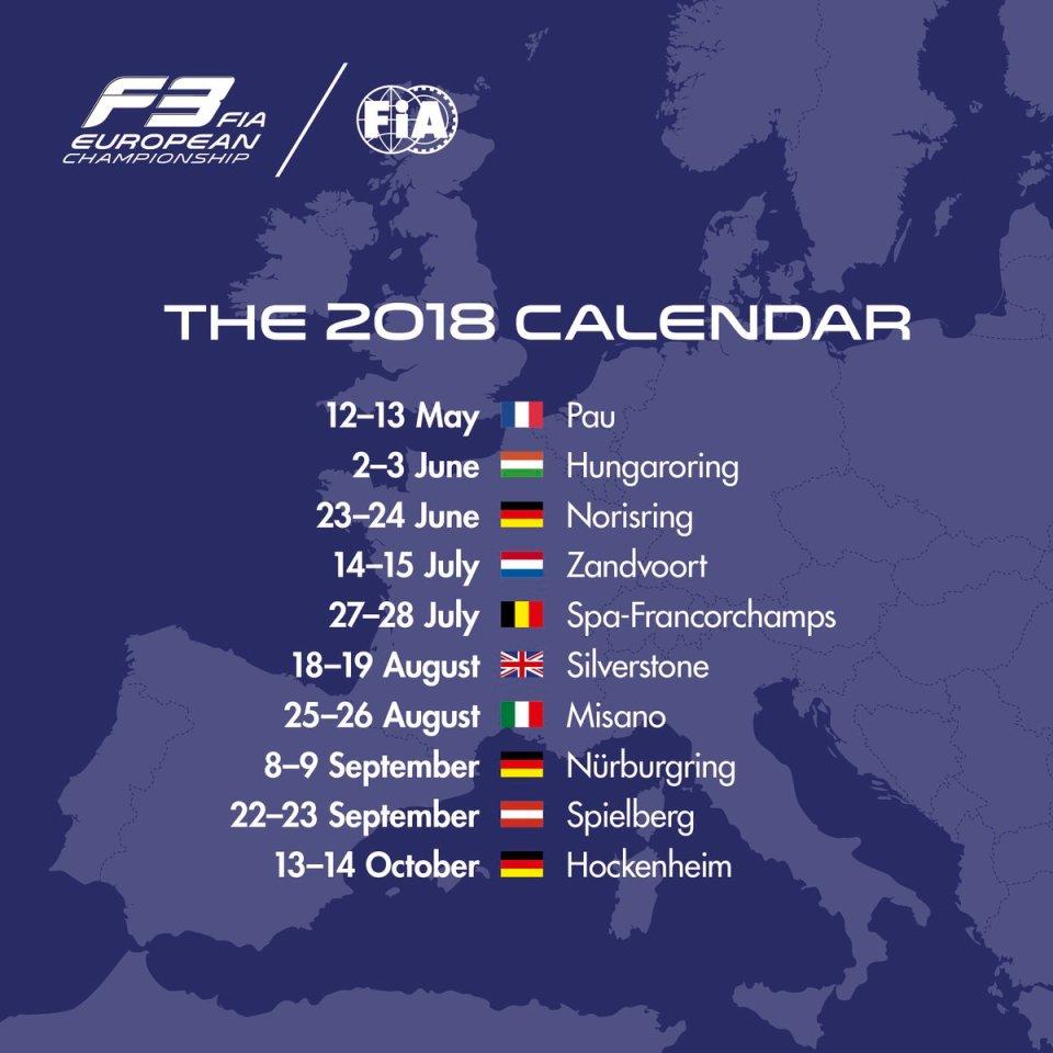 calendario F3 2018