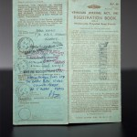 "Volvo P1800 S ""ST1"" registration document with Roger Moore's signature"