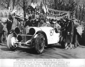Mille Miglia 1931: Der spätere Sieger Rudolf Caracciola