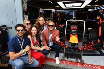 The Riviera 2 cast at the Italian GP in Monza