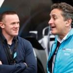 Footballer Wayne Rooney with Alejandro Agag, CEO, Formula E