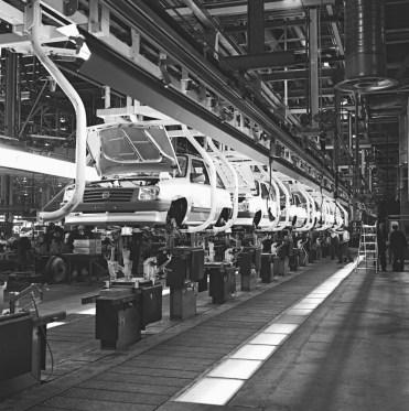 Corsa-Produktion im Opel-Werk Saragossa, 1982
