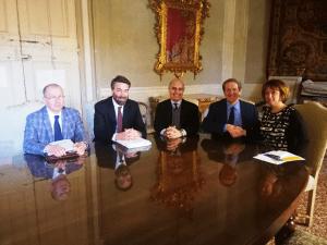 Da destra, Sangiorgi, Copioli, Marazzi, Estense, Strani