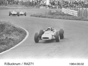 Ronnie Bucknum (RA271) in the 1964 German Grand Prix