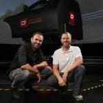 Battista simulator, Rene Wollmann and Nick Heidfeld 2