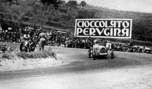 Museo Nicolis, Coppa della Perugina, Nuvolari sulla curva di Ferro di Cavallo