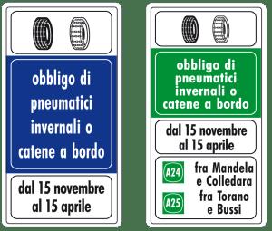 Cartelli stradali_ordinanze invernali