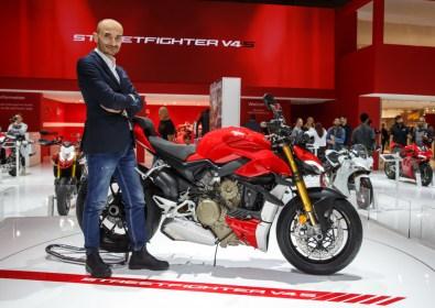 Ducati EICMA 2019 - Claudio Domenicali (CEO Ducati), Streetfighter V4 S
