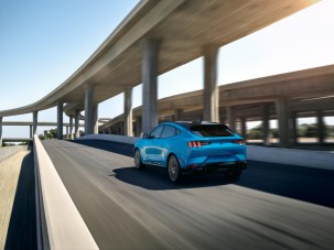 2021 Mustang Mach-E GT in Grabber Blue Metallic