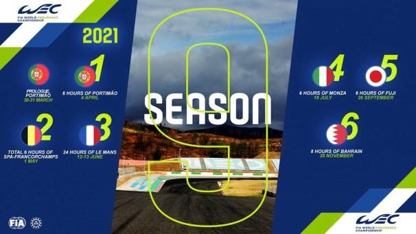 calendario wec 2021 update