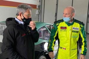 Caffi e Villeneuve test Nascar