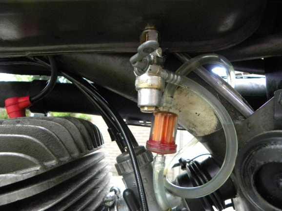 Een benzinefilter. Heel handig