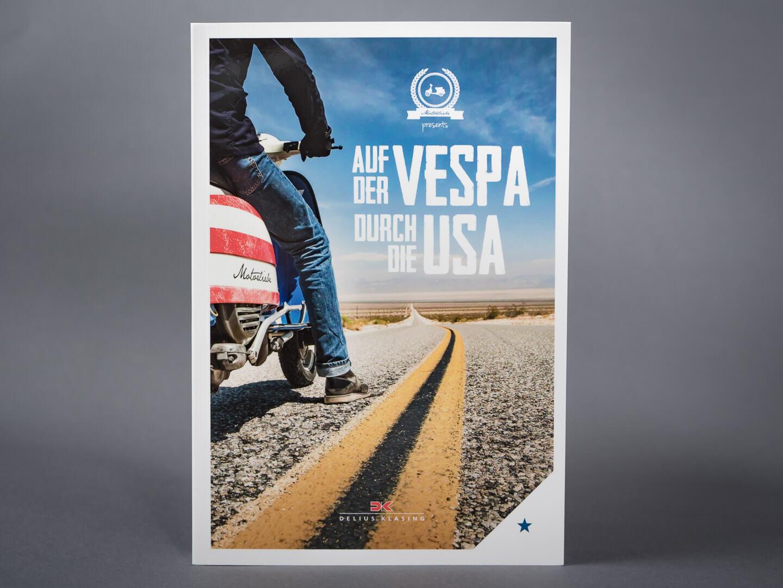 Auf der Vespa durch die USA > Buch, Titel