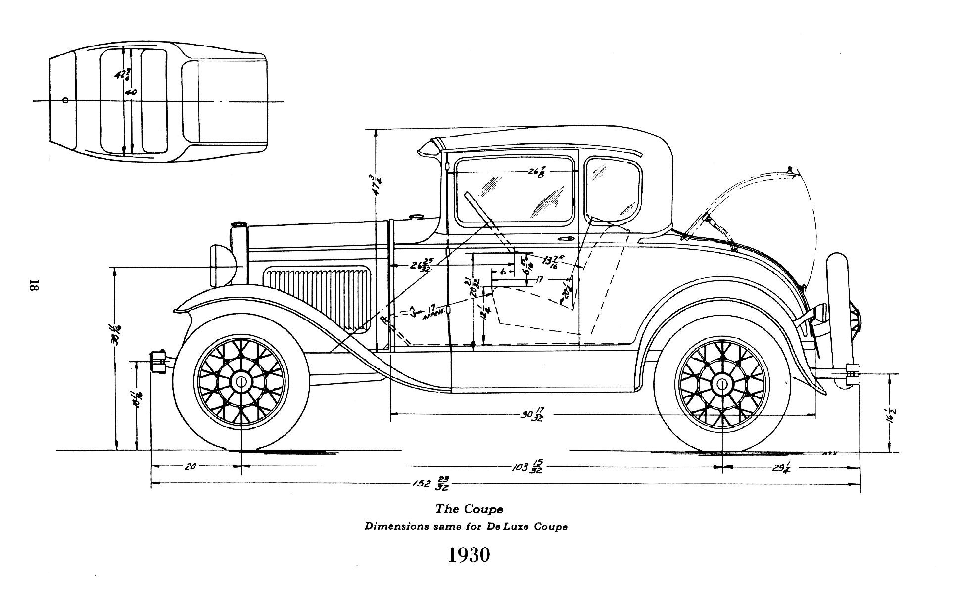 Ford 5 Window Coupe Dimensions