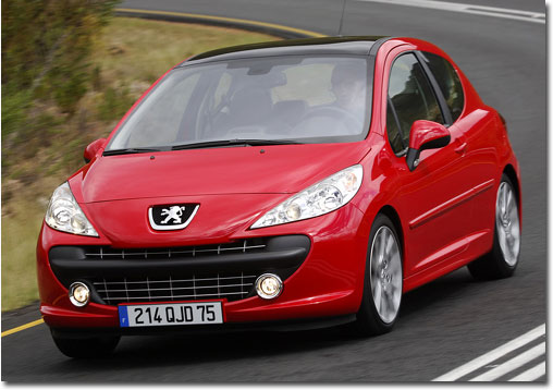 Peugeot 207 in red