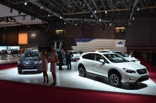 © MotorNews kw_Pariser Automobilsalon 2014 / Subaru Messestand